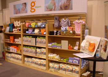 gDiapers booth fabricated by Interpretive Exhibits