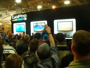 Trying to get your hands on a GoPro camera at Outdoor Retailer Winter Market 2013