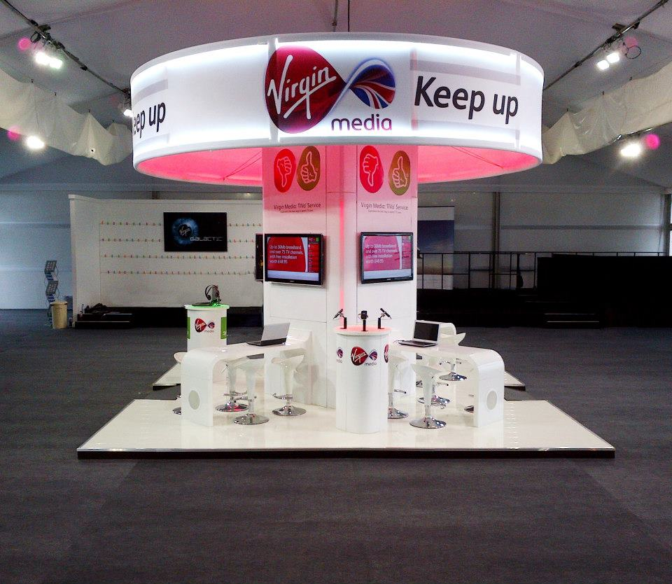 Virgin media Exhibition stand design