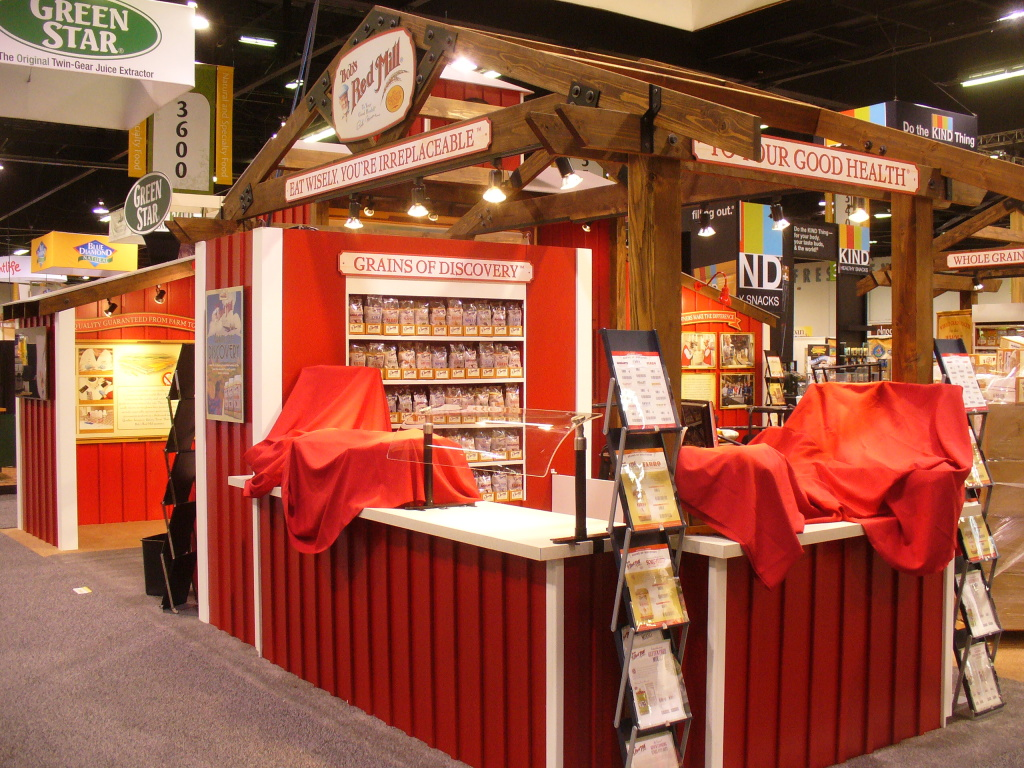 Custom tradeshow booth from Bob's Red Mill