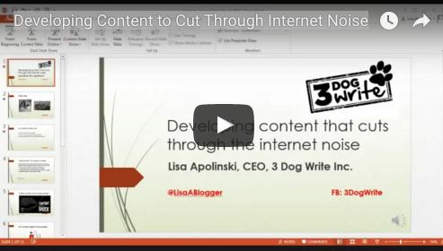 Creating content that cuts through the noise webinar replay