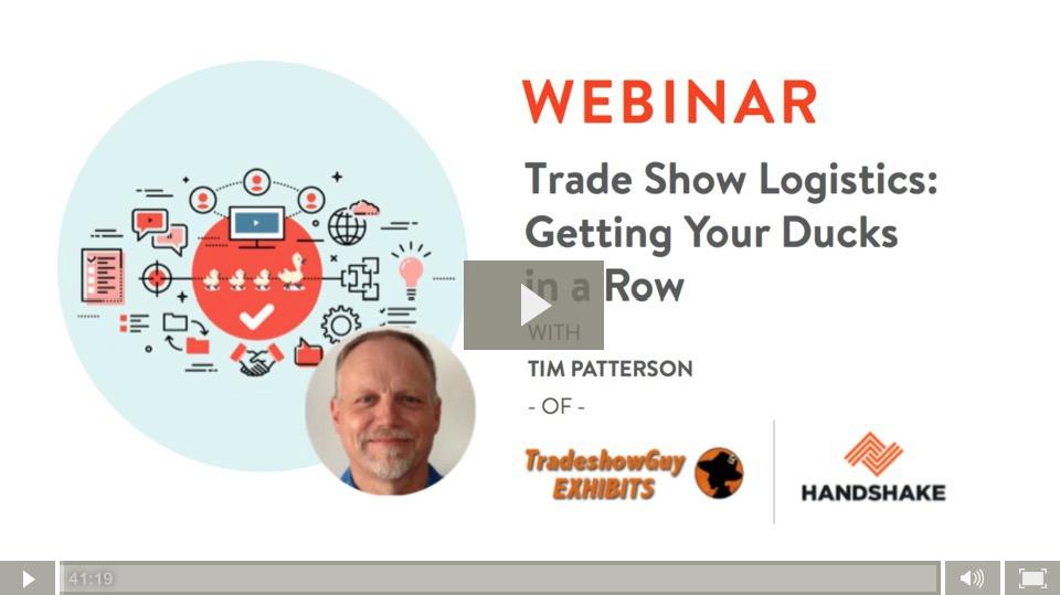 Tradeshow Logistics Webinar with handshake.com