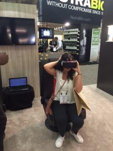 Virtual Reality experience at Expo East. Photo by Jennifer Liu of Hyland's Homeopathic.