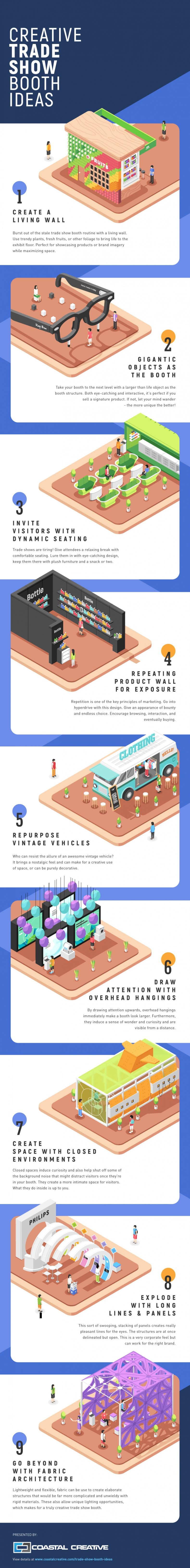 infographic - 9 creative tradeshow exhibit ideas